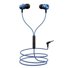 boAt BassHeads 152 Wired Earphones with Super Extra Bass, Durable Cable, Built-in Mic, Metallic Earbuds(Jazzy Blue)