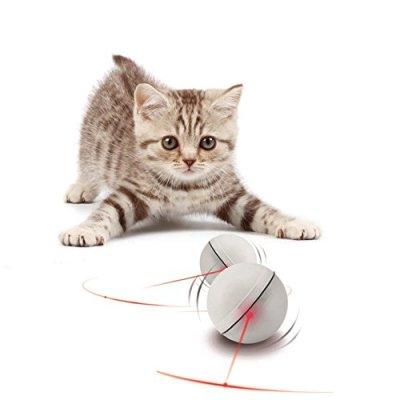 YOFUN Interactive Cat Toy 360 Degree Self Rotating Ball Automatic...