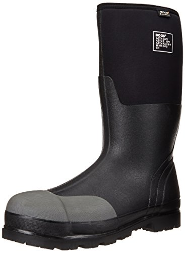 Bogs Men's Forge Tall Industrial Steel Toe Work Rain Boot, Black, 10 D(M) US