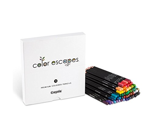 Crayola Color Escapes Colored Pencils, 72 Count, Adult Coloring, Gift