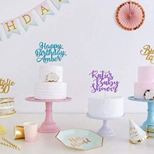 Create your own Custom Cake Topper. Personalised Birthday Party Decorations. Any Text. Birthday or Wedding Party. Any Glitter Colour. Any Occasion Cake Decoration. Wedding Decorations. 41Xy78BFyTL