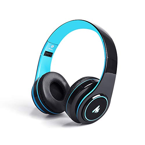 Maono AU-D422L Over-Ear Bluetooth Wireless Headphones with Built in Mic (Blue and Black) 197