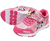 Joah Store Light Up Pink Sneakers Comfy Cushion Minnie Mouse Shoes (Parallel Import/Generic Product) (8 M US Toddler, Minnie_A)