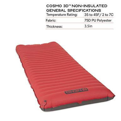 Nemo-Cosmo-3D-Sleeping-Pad-Long-Wide