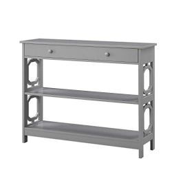 Convenience Concepts Console Table, Gray
