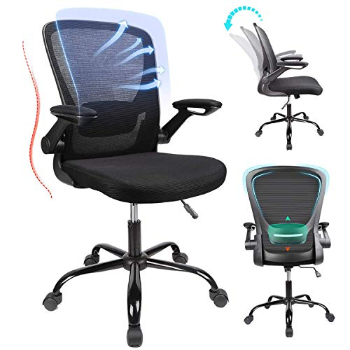 Home Office Chair Ergonomic Desk Chair High Back Mesh Computer Chair with Adjustable Height and Elastic Lumbar Support… 1