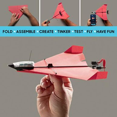 POWERUP-40-The-Next-Generation-Smartphone-Controlled-Paper-Airplane-Kit-RC-Controlled-Easy-to-Fly-with-Autopilot-Gyro-Stabilizer-For-Hobbyists-Pilots-Tinkerers-STEM-Ready-with-DIY-Modular-Kit