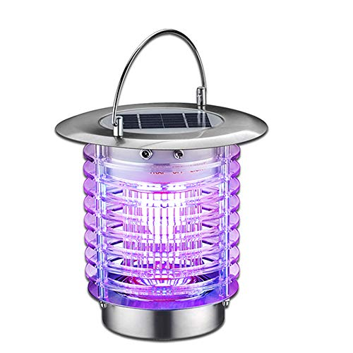 MeetUs Wireless Solar Power Mosquito Light, Indoor Outdoor USB Electronic Led Solar Mosquito Lamp for Camping,Fishing or Hiking,2 Modes