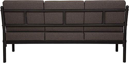 FurnitureKraft-Clayton-3-1-1-Sofa-Set-with-Mattress-Glossy-Finish-Brown