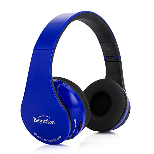 Beyution Bluetooth Wireless Headphones Stereo Over Ear Headphones with Built-in Mic, Hands-Free Voice Calling AptX Headset for iPhone iPad Samsung Galaxy Tablets and All PC