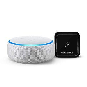 Echo Dot (White) bundle with OakRemote for...