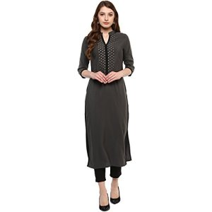 ZIYAA Women's Synthetic Straight Kurta