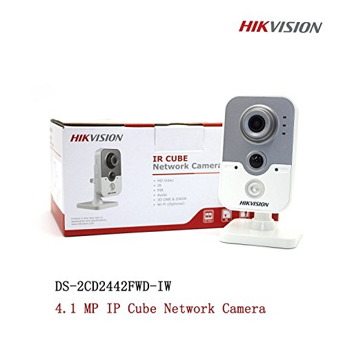 Hikvision DS-2CD2442FWD-IW English Version 4MP WDR Mini Cube CCTV Security POE Camera WiFi, Wireless IP Camera