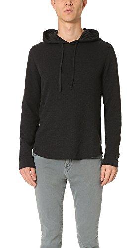 41YEfGeOJZL Lightweight double knit cotton jersey Shirttail hem Functional drawstring