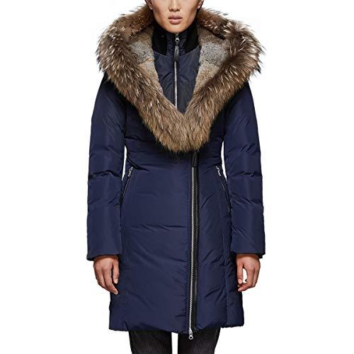 61RkcK8dKdL Material: [exterior] 100% polyester, [lining] polyester, [trim] acrylic, wool, spandex, [ruff trim] Asiatic raccoon, rabbit Insulation: duck-down Fit: regular
