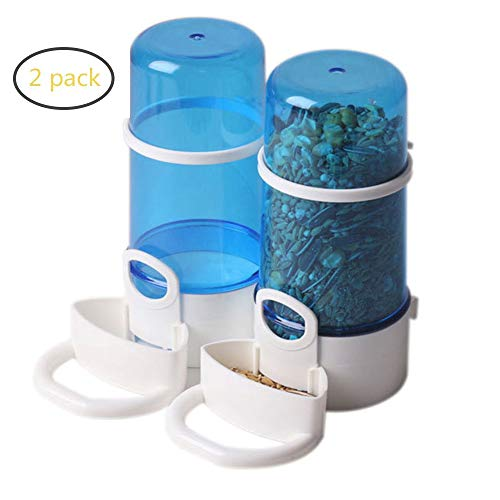 PINVNBY Automatic Pet FeederFood Container Feeder Bird Feeding Food Water Dispenser for Small Animals, Guinea Pig, Rabbit, Bird and Mini Hedgehog.(2 Pack)