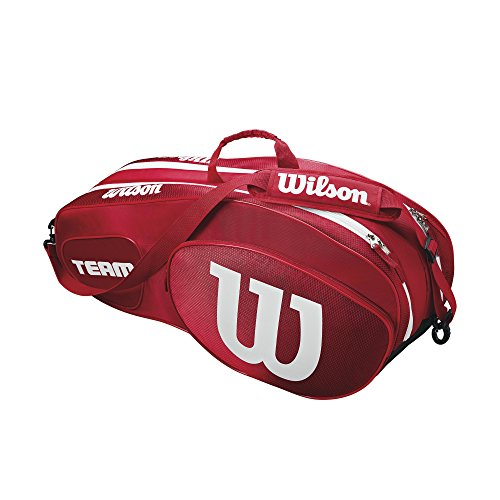 Wilson Team III 6 Pack Tennis Bag - Red/White