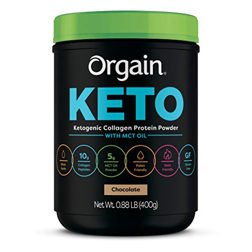 Orgain Keto Collagen Protein Powder with MCT Oil, Chocolate - Paleo Friendly, Grass Fed Hydrolyzed Collagen Peptides Type I and III, Dairy Free, Lactose Free, Gluten Free, Soy Free, 0.88 Pound 1