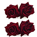 Product review for Ever Fairy Rose Flower Hair Clip Slide Flamenco Dancer Pin Flower Brooch Lady Hair Styling Clip Hair Accessories