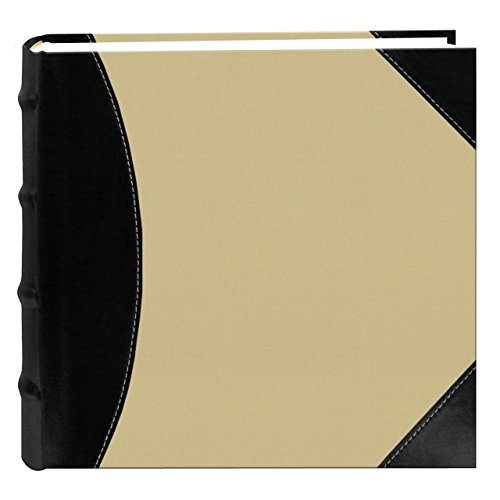 Pioneer High Capacity 5-Up Photo Album 12″X12″ 500 Pockets-Black & Beige