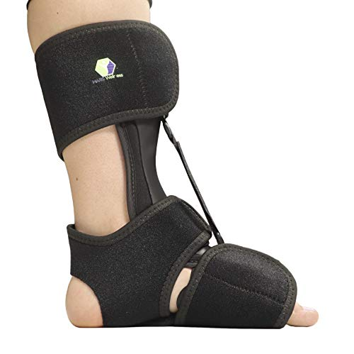 Comfort Dorsal Night Splint - Pain Relief from Plantar Fasciitis, Drop Foot, and Achilles Tendinitis - Small/Medium