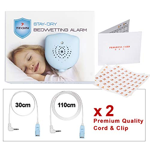 2in1 Detachable Bedwetting Enuresis Alarm with Built-in Battery, Volume Control, Customized Sounds and Vibration