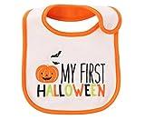 Carter's Just One You Neutral Baby Halloween Bib (White/Orange 'My First Halloween')