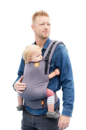 Baby Tula Free-to-Grow Baby Carrier 7 – 45 lb, Adjustable Newborn to Toddler Carrier, Ergonomic Inward Front and Back Carry, Easy-to-Use, Lightweight – Stormy, Gray
