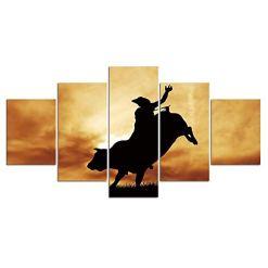 Bull Rider at Sunset Wall Decor