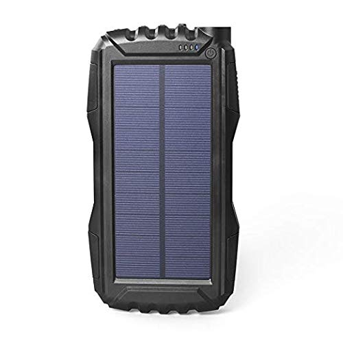 Solar Charger Kiizon 25000mAh Outdoor Portable Chargers Solar Power Bank Waterproof/Shockproof Dual USB Port External Backup Battery Powered Pack with Flashlight for iPhone,ipad,Smart Cell Phone,More