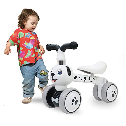Baby Toddler Tricycle Bike No Pedals 10-36 Months Ride-on Toys Gifts Indoor Outdoor Balance Bike for One Year Old Boys Girls First Birthday Thanksgiving Christmas Dalmatian