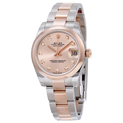970aeb01a2f Rolex Datejust Pink Dial Automatic Stainless Steel and 18kt Rose Gold  Ladies Watch 178241PDO