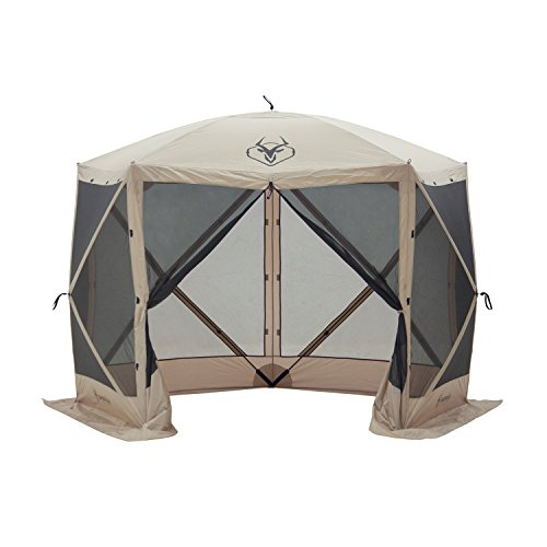 Gazelle Tents G5 Pop-Up Portable 6-Sided Hub Gazebo/Screen Tent, Easy Instant Set Up in 60 Seconds