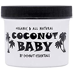 COCONUT BABY OIL Organic Moisturizer - Vitamin E for Hair and Skin Care - Cradle Cap Treatment, Eczema and Psoriasis Relief - Massage - Sensitive Skin, Diaper Rash Guard, and Stretch Marks (4 oz)