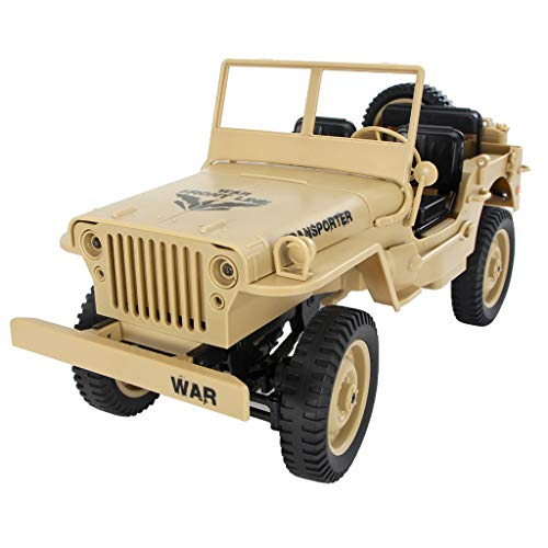 JJRC Q65 1/10 2.4G Remote Control Electric Vehicle Buggy Hobby Car Gifts for Boys 5-15 Year Olds (Yellow)