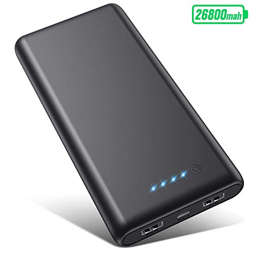 Portable-Charger-Power-Bank-26800mah-Ultra-High-Capacity-Safer-External-Cell-Phone-Battery-Pack-Compact-with-High-Performance-Cells-2-USB-Output-Smart-Charge-for-Smartphone-Android-Tablet-etc