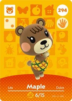Amazon Com Maple Nintendo Animal Crossing Happy Home Designer Amiibo Card 294 Video Games