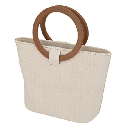Agneta Women's Summer Straw Bag Top Handle Tote Shoulder Bag for Beach Travel