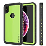 Punkcase iPhone Xs Waterproof Case, Punkcase [StudStar Series] [Slim Fit] [IP68 Certified] [Shockproof] [Dirtproof] [Snowproof] 360 Full Body Armor Cover Compatible W/Apple iPhone Xs [Light Green]