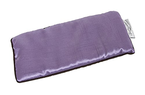 DreamTime Spa Comforts Eye Pillow, Aromatherapy Lavender, Wellness and Relaxation, Sooth Stress and Relieve Headaches, Two-Tone Lavender/Chocolate Brown