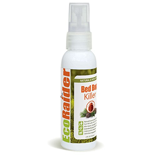 Bed Bug Killer by EcoRaider Travel/Personal Size, 100% Fast Kill and Extended Protection, Plant Based Formula