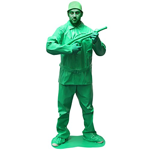 Morphsuits Men's Morphcostume Co Saving Private Morph Unisex Costume Toy Solider, Green, Large
