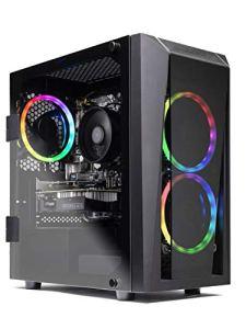 SkyTech Rampage - Gaming Computer PC Desktop - Ryzen 5 1600 6-core 3.2 Ghz, NVIDIA GeForce GTX 1060 3GB, 500G NV Me PCIe SSD, 8GB DDR4, AC WiFi, Windows 10 Home 64-bit (8GB Version)