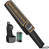 UNIROI UD001-DS-VC Metal Detector Wand, Hand Held Security Scanner with 9V Battery