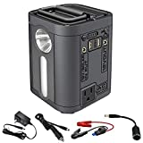 LVYUAN Lithium Portable Power Station Portable Generator 100W 26800mAh CPAP Backup Battery Pack UPS Power Supply 110V AC Outlet, QC3.0 USB, 12V/24V DC, LED Flashlight for Camping, Home, Emergency