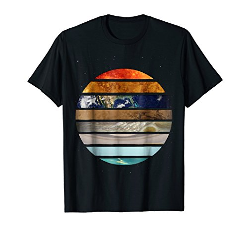 Mens Amazing Planet T-Shirt Great Astronomy Gift XL Black
