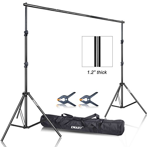 Emart Photo Video Studio 9.2 x 10ft Heavy Duty Background Stand Backdrop Support System Kit with Carry Bag for Photography