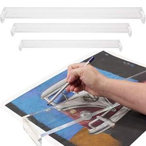Creative Mark Artist Leaning Bridge Hand and Wrist Leaning Bridge Acrylic Used for Steady Hand Painting, Drawing & Sketching – Asst.