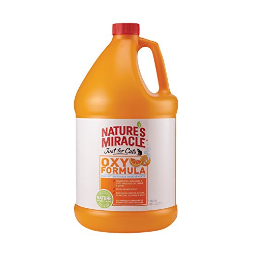Nature's Miracle Just For Cats Orange Oxy Stain & Odor Remover, Gallon (5705)