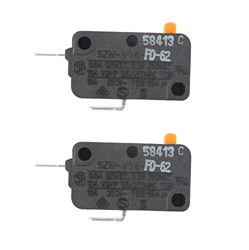 Podoy SZM-V16-FD-62 WB24X830 Microwave Switch for GE WB24X0800 WB24X800 SZM-V16-FA-62 AP2024338 253820 AH237422 EA237422 PS237422 WB24X0800 WB24X0830 WB24X10075 Door Monitor Switch (Pack of 2)